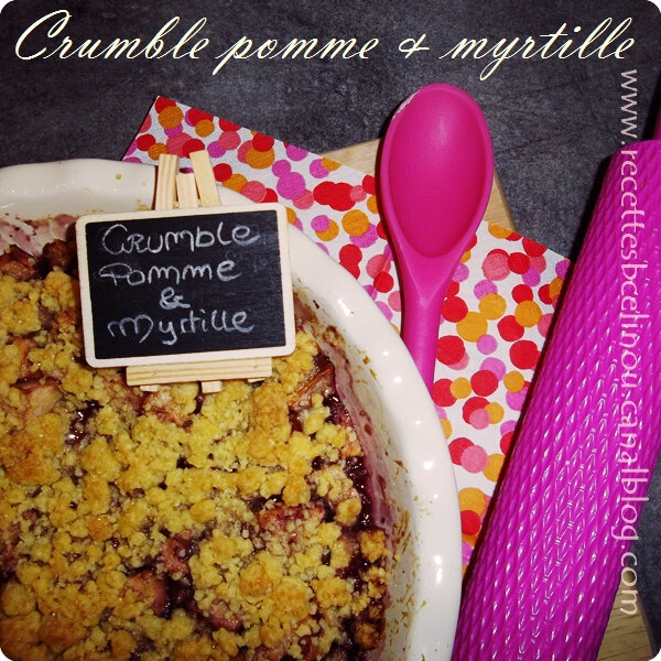 Crumble pomme & myrtille.
