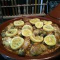 Tagine de poulet aux citrons confits