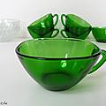 Vaisselle vintage ... tasses vereco