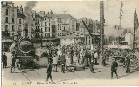 76 - DIEPPE - Départ du rapide pour Paris
