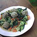 Boulettes quinoa et pois chiches