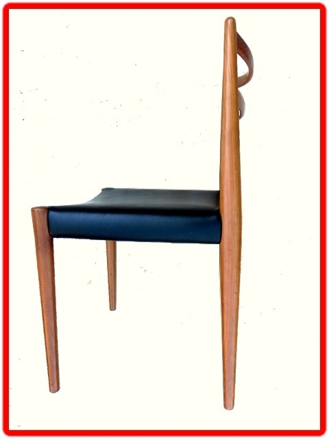 chaise design scandinave label LUBKE 1960 teck