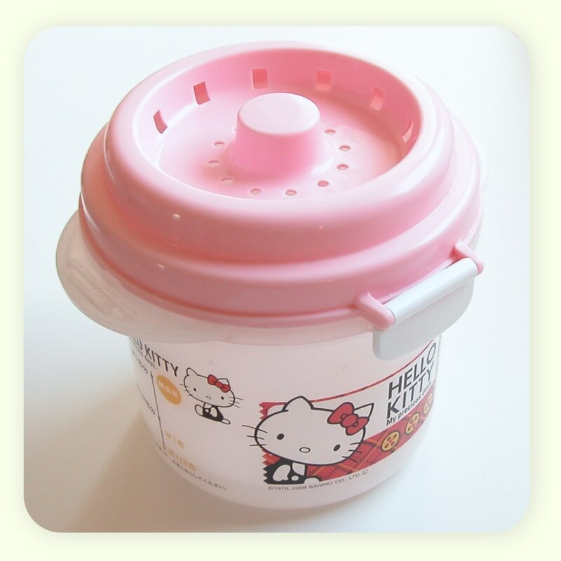 Ricecooker micro-ondable Hello kitty