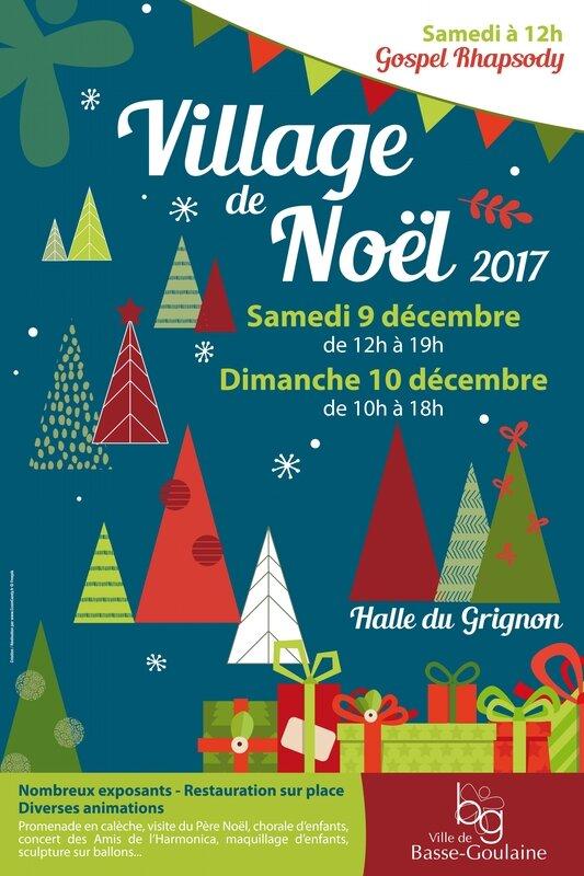 Affiche Village de Noel
