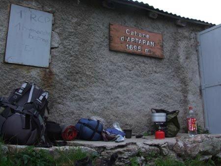 bivouac à la cabane d'Artaran gr10