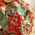 Un bouquet corail et turquoise