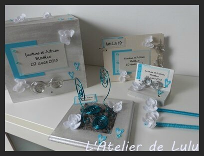 decoration mariage turquoise orchidee
