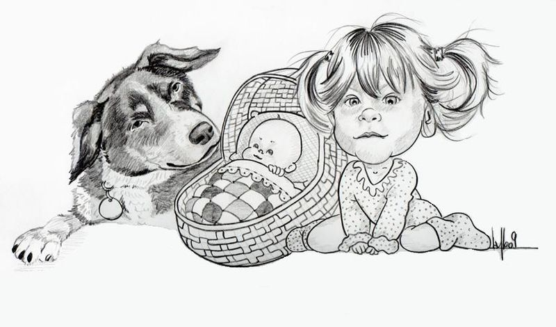 Dessin pour faire part de naissance photo de caricatures anim es a la flo caricatures - Naissance dessin ...