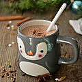 Chocolat chaud cru aux épices #noël vegan