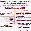 Rabat stage de kundalini yoga et meditation septembre 2014