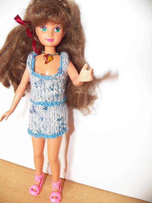 barbie tricot: une robe d'été