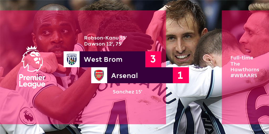 Arsenal en plaine déconfiture a West Brom 3-1