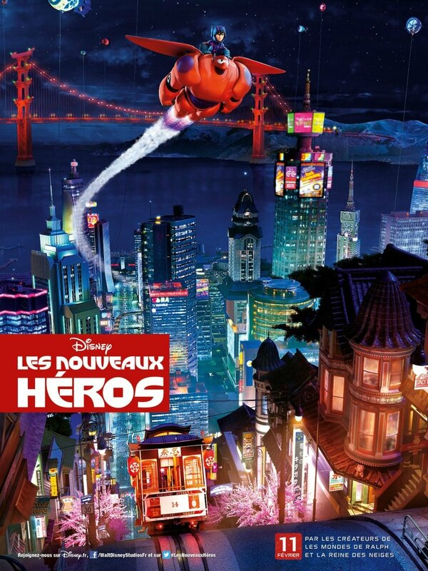 Big hero 6 (affiche nuit)