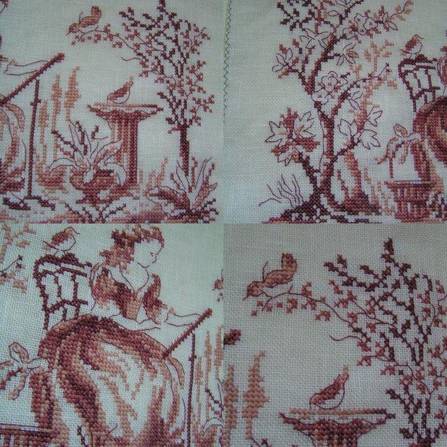 tissu ludivine toile de jouy
