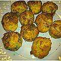 Muffins chevre et saucisse au basilic