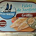 Tarte aux sardines grillées