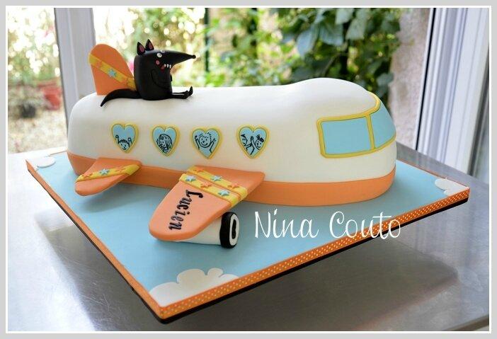 Gâteau anniversaire enfant Nîmes aviao pate a sucre1