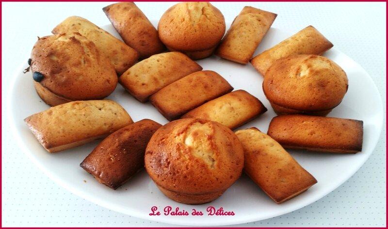 Financiers au pralin - Pralins et muffins au chocolat blanc