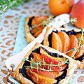 Mini-tartes d'été abricot tapenade