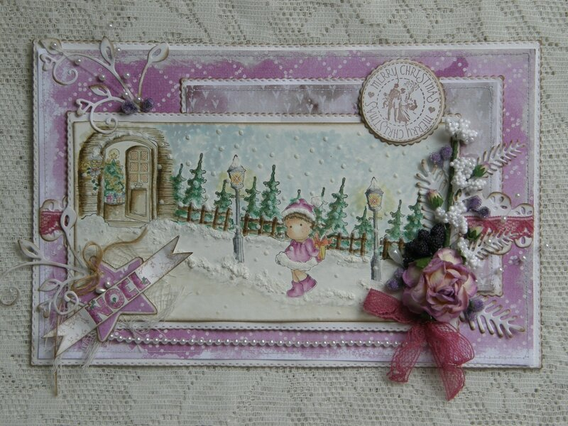 Mini winterscene card - Kianel - Magnolia Ink 062012