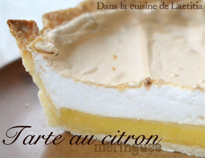 Tarte au citron meringu e la cuisine de titia - Tarte au citron meringuee marmiton ...