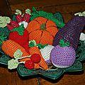 Légumes en crochet.