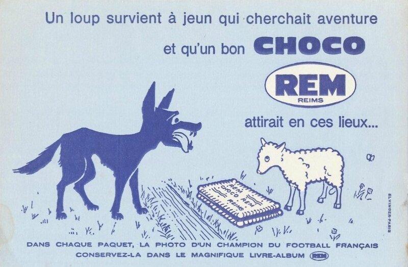 Buvard Choco Rem Loup et agneau