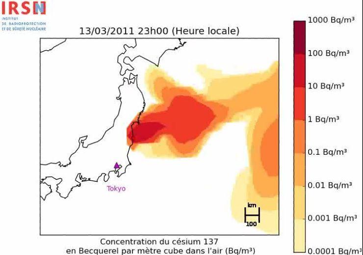 La dispersion des rejets radioactifs dans l'atmosphère - 22 mars 2011 - Google Chrome 28032011 104414