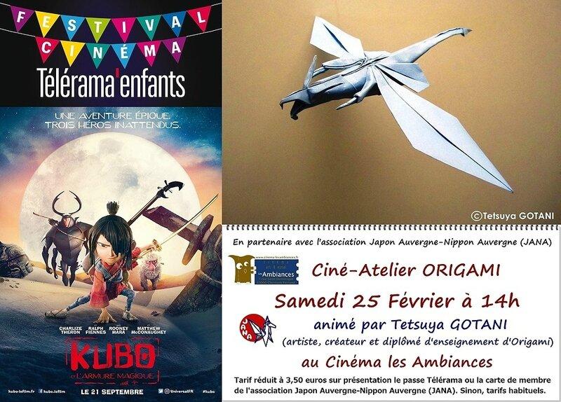 Festival Telerama-Kubo-Cine-Atelier-Origami 2017