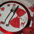 Assiette renne de noel