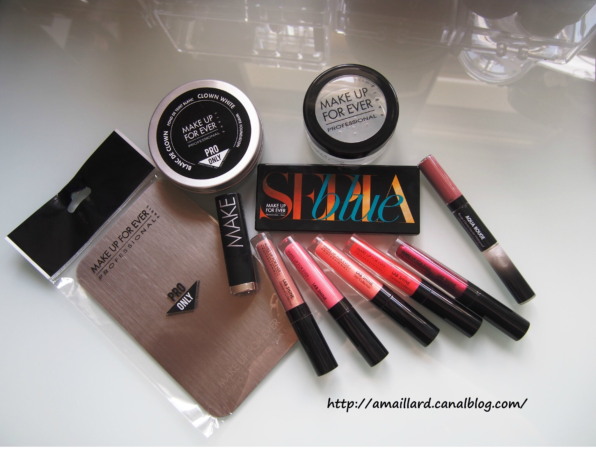 BIG HAUL MAKE UP FOR EVER:VENTE PRIVEE.COM/BOUTIQUE PRO/SOLDES.....