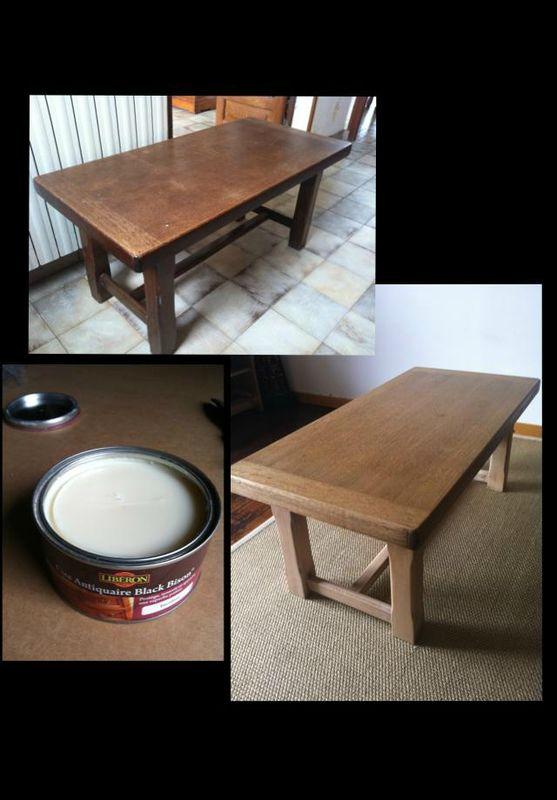 Le relooking de steph la d co de mina for Relooker table bois
