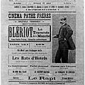 LA CAMERA QUI A FILME LA TRAVERSEE DE LOUIS BLERIOT.