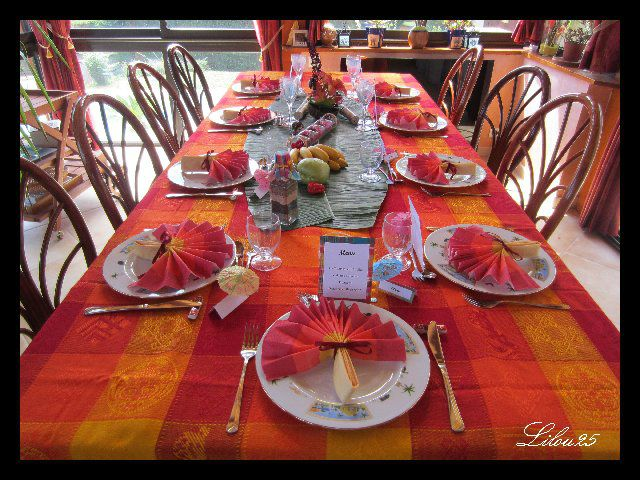 décoration de table guadeloupe #4