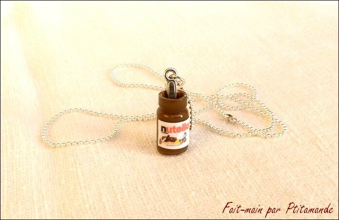 Collier fiole Nutella - 1