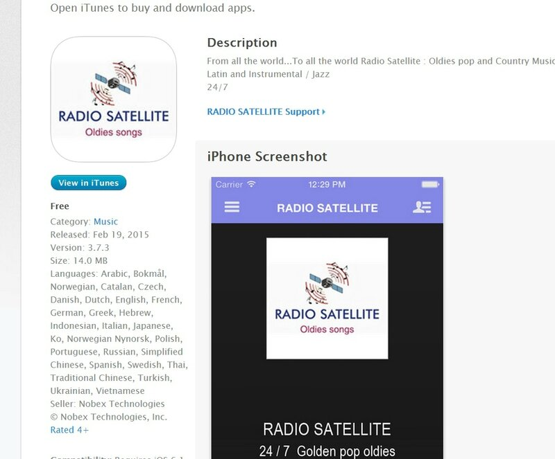Radio Satellite Apple