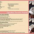 Cupcakes chocolat-praliné