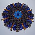 Napperon papillon bleu :