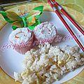 Makis de jambon surimi et son riz sauté à la sauce de soja