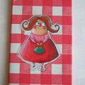 07-08 carnet vinyl timide vichy rouge