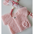 Avanlanche de layette rose pastel au crochet