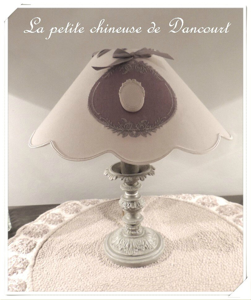 Lampe de chevet grise photo de les lampes la petite chineuse de dancourt - Lampe de chevet grise ...