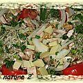 Salade savoyarde aux graines germées