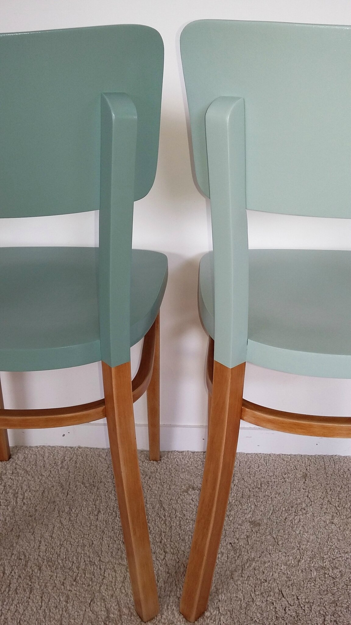Paire chaises bistrot Thonet vintage années 50