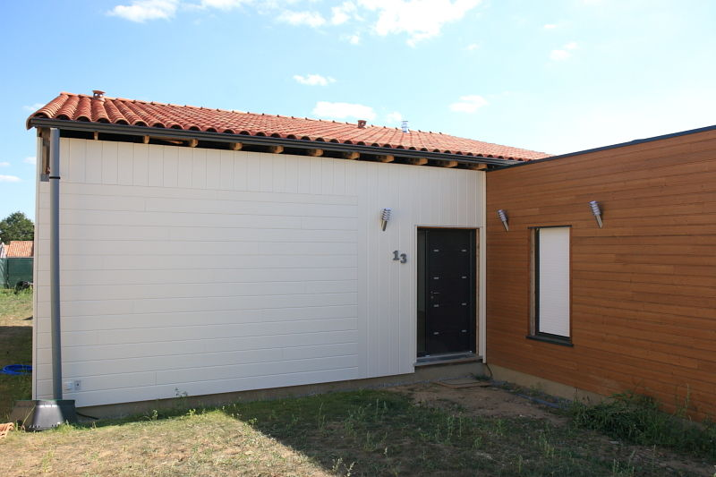 Bardage EST (jour N°23) 07082010  Notre Maison Ossature Bois en Loire A