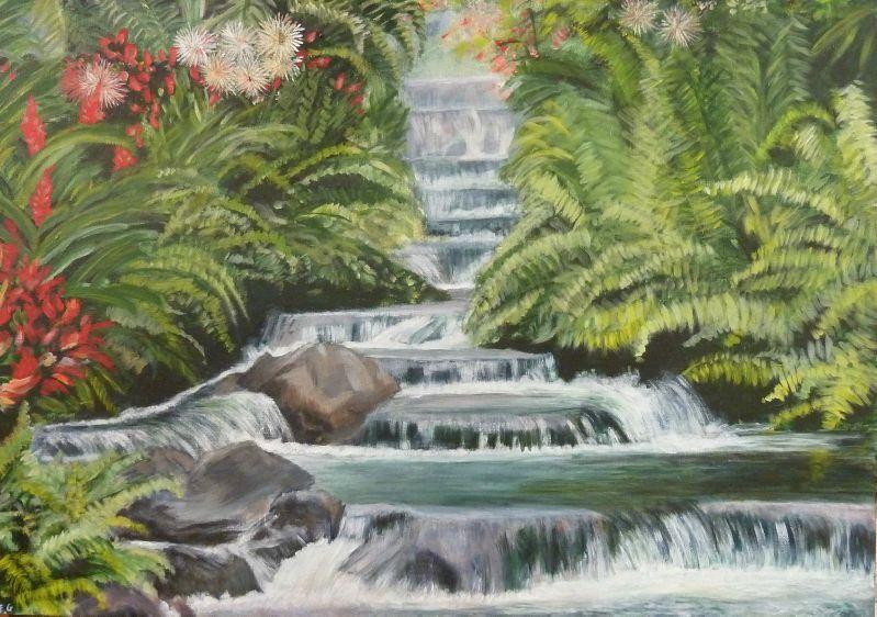 Cascade acrylique fran oise le blog de l 39 atelier de peinture for Peindre une baignoire en acrylique