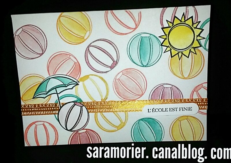 CARTE STAMPIN UP DAY AT THE BEACH