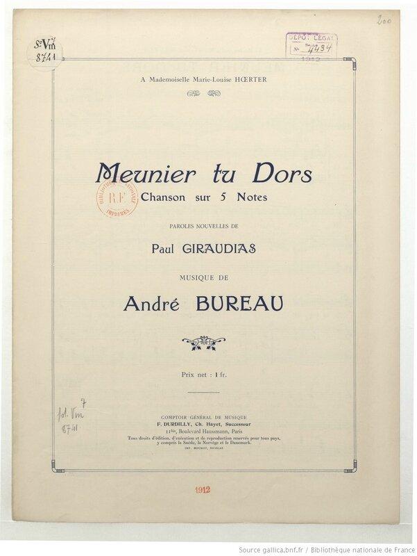 Meunier_tu_dors_chanson