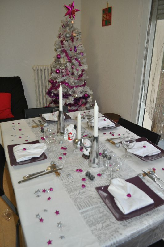 Deco de table st sylvestre 2011 la cuisine de christelle for Decoration reveillon