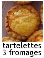 mini-tartelettes aux 3 fromages - index